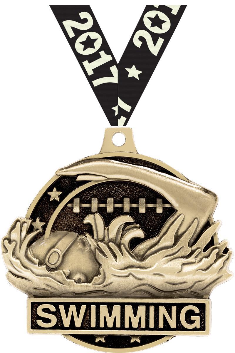 """2"""" Swim Medals"""