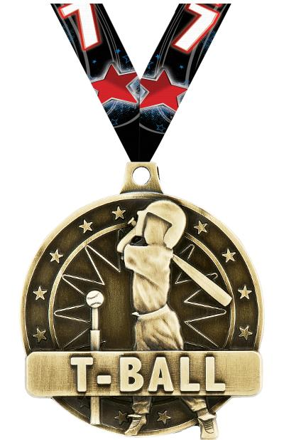 "2"" T-Ball Player Medals"