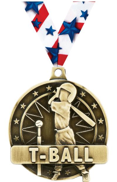 """2"""" T-Ball Player Medals"""