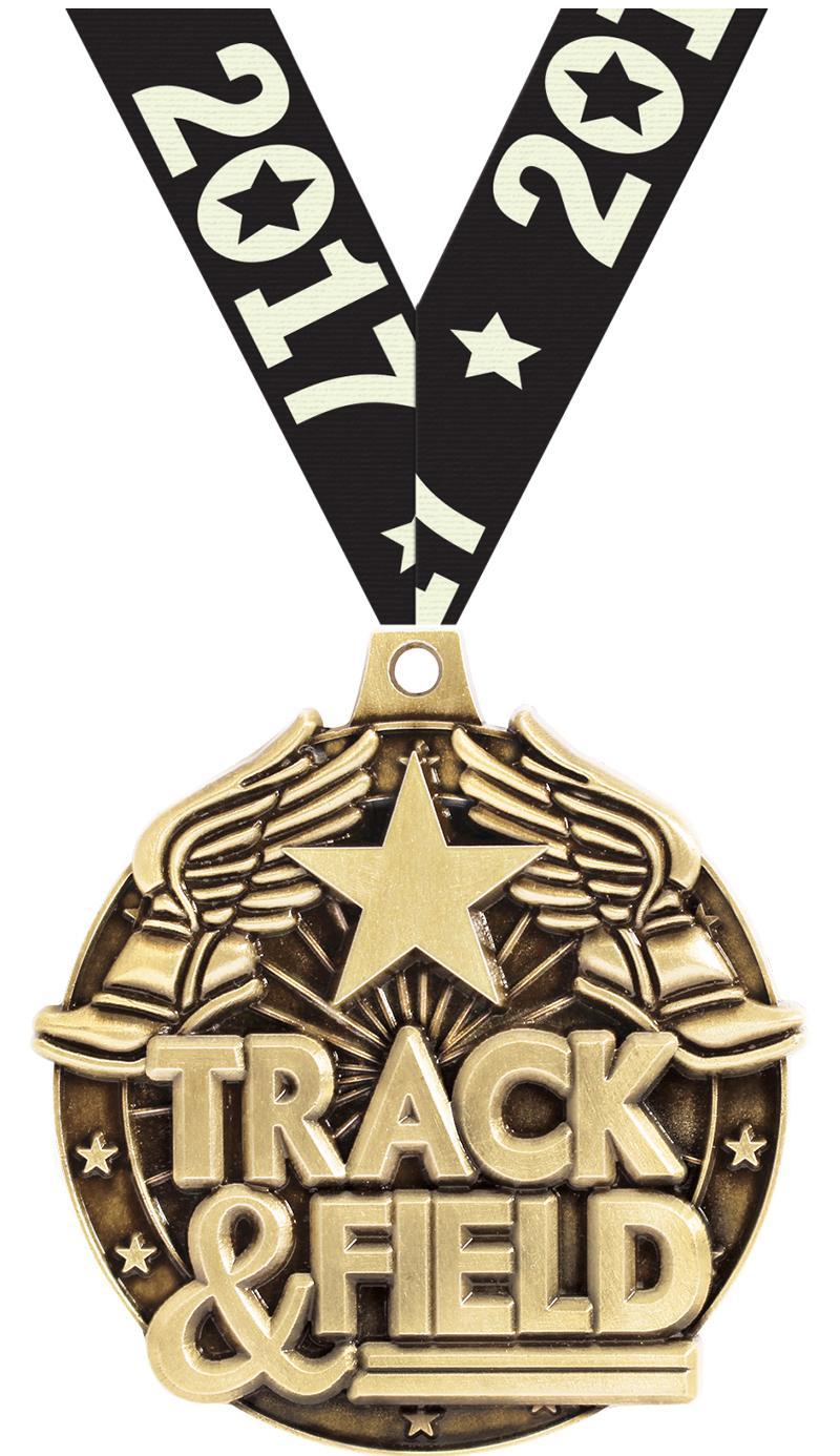 "2""3D TRACK&FIELD WF MEDAL GOLD"