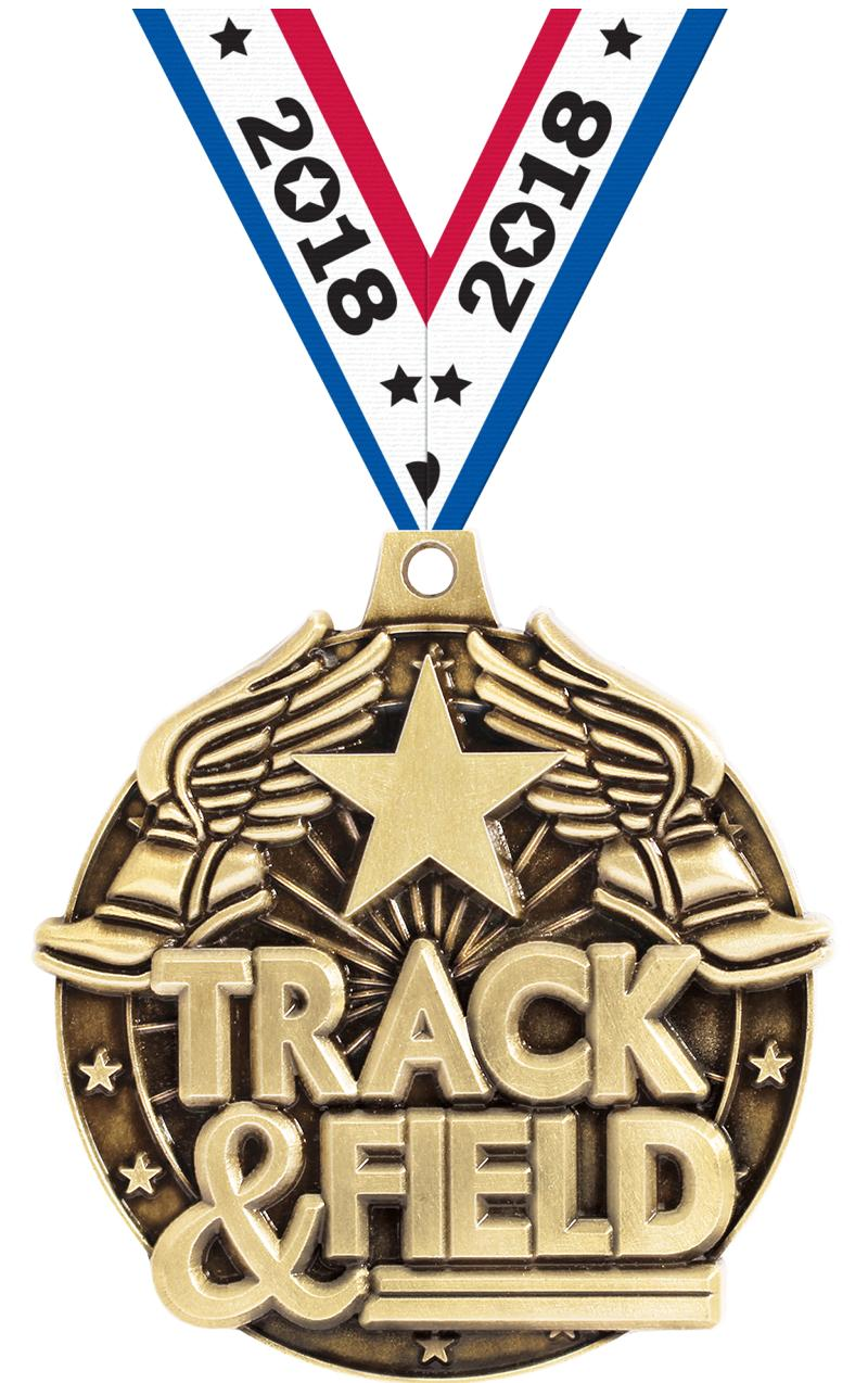 "2""3D TRACK&FIELD WF MEDAL GOLD"