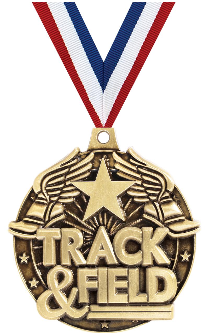 """2"""" Track/Field Winged Foot Medals"""