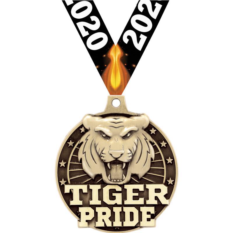 """2"""" 3D TIGER PRIDE GOLD MEDAL"""