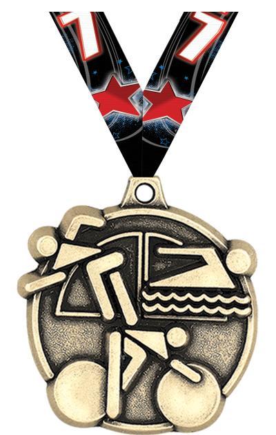 "2"" Triathlon Medals"