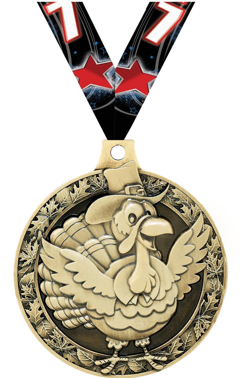 """2"""" Turkey Medal"""