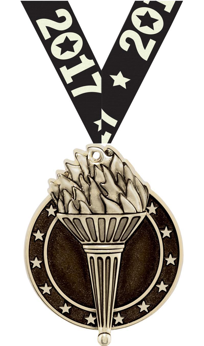 "2"" Torch Medals"