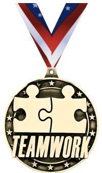 """2"""" Teamwork Medal"""
