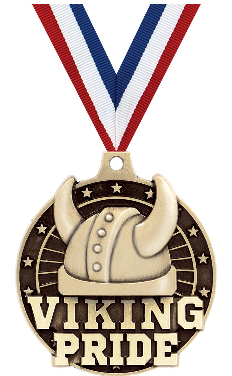 "2"" 3D VIKING PRIDE GOLD MEDAL"