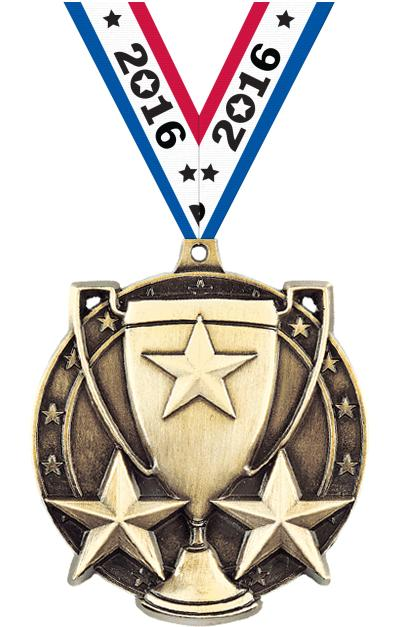 """2"""" Star Cup Medals"""