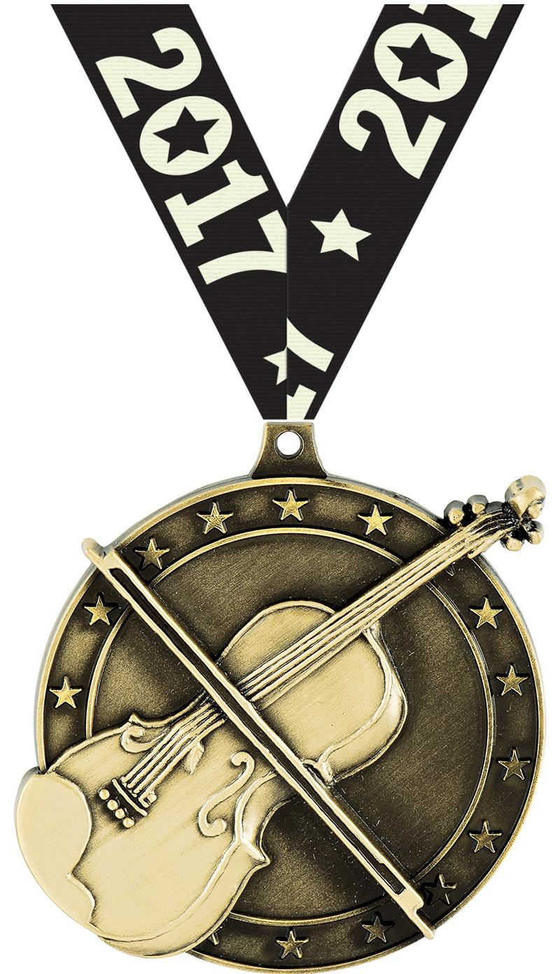 """2"""" Violin Medals"""