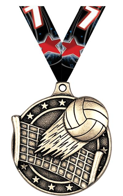 "2"" Volleyball Medals"