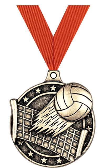 """2"""" 3D VOLLEYBALL MEDAL GOLD"""