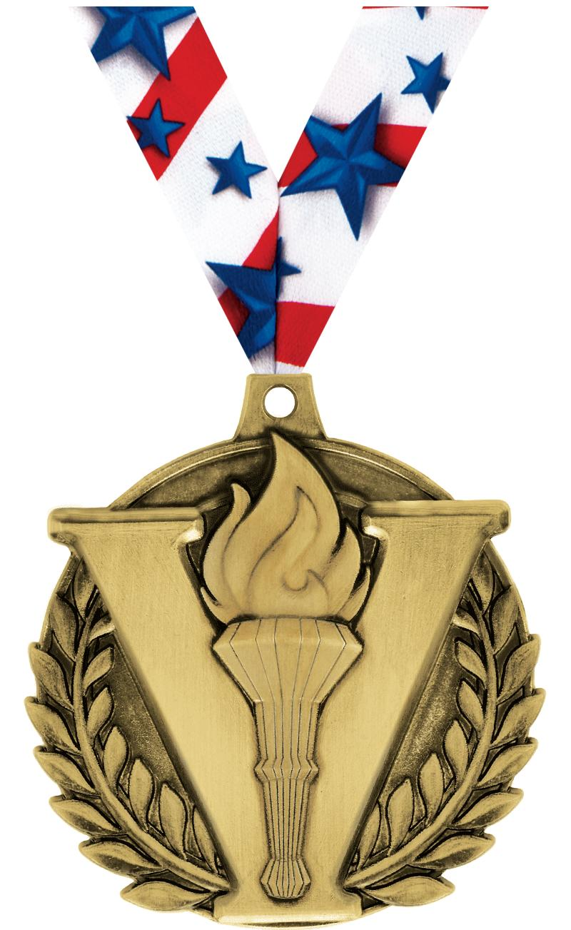"2"" Victory Torch Medal"