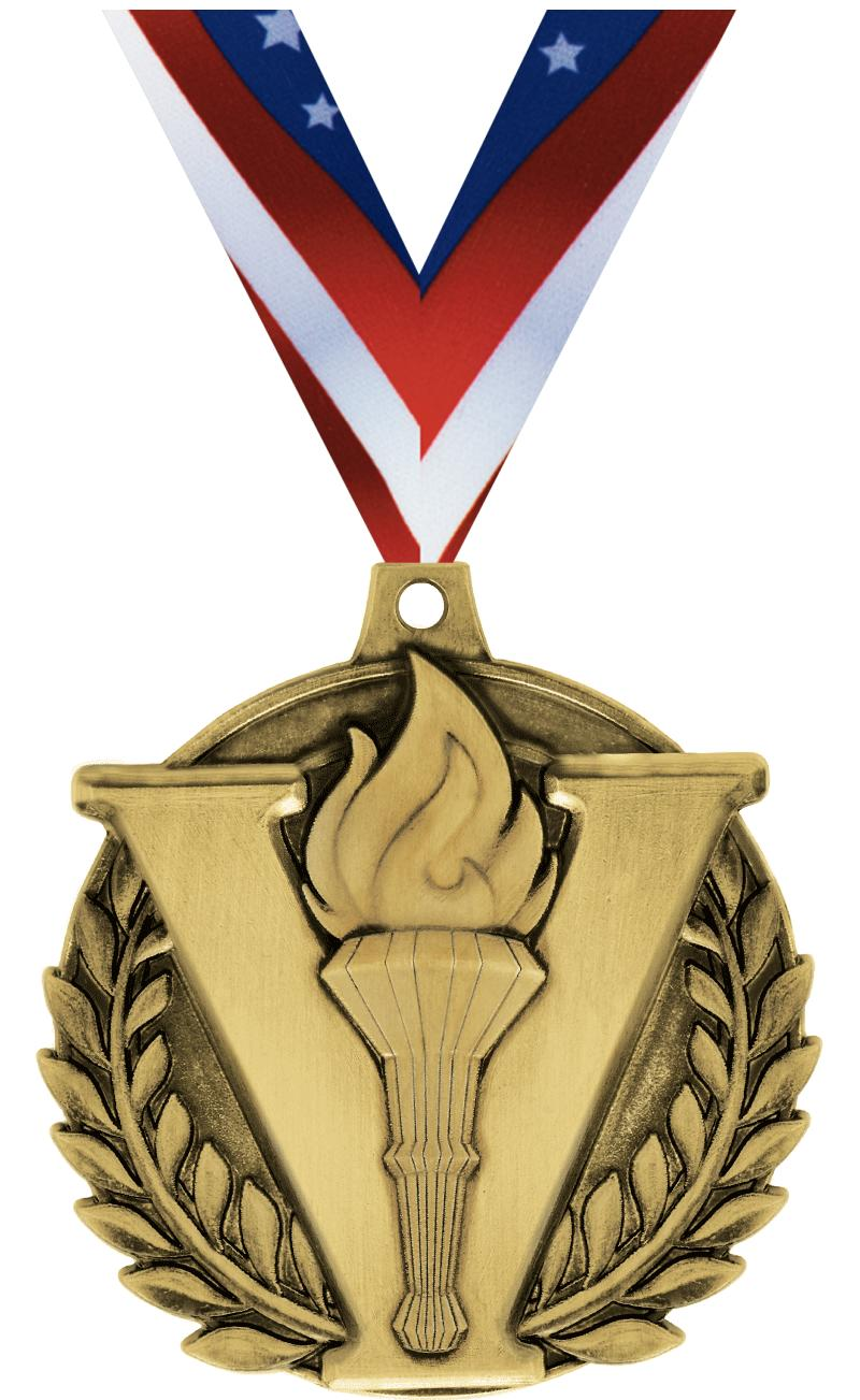 """2"""" Victory Torch Medal"""