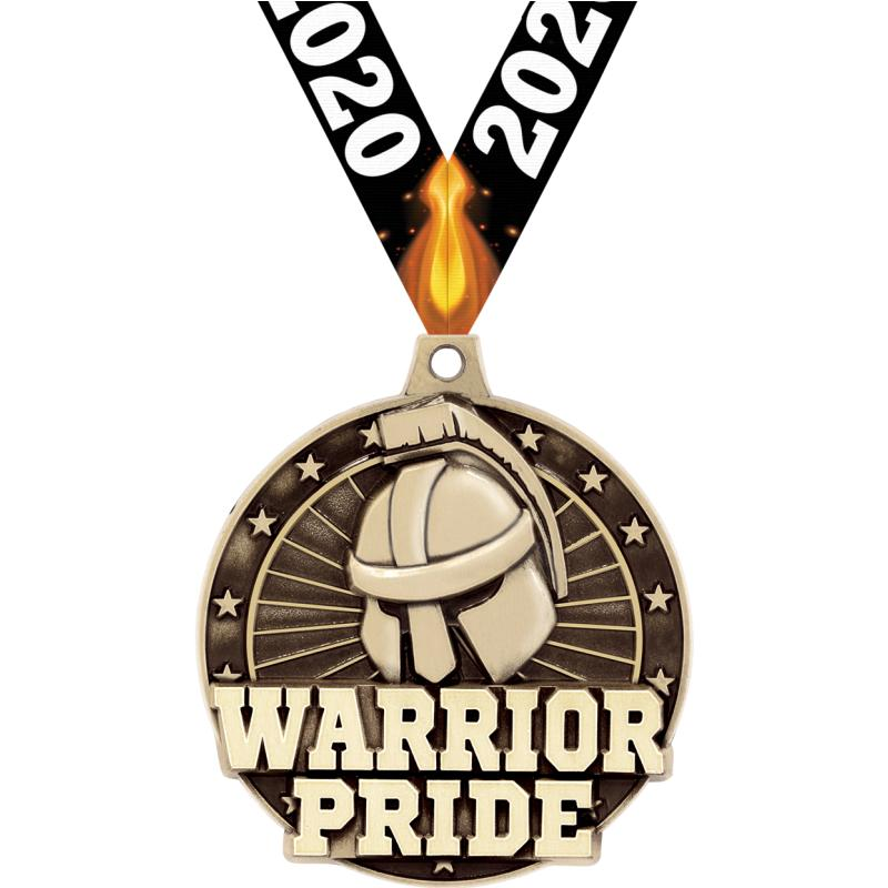 "2"" 3D WARRIOR PRIDE GOLD MEDAL"