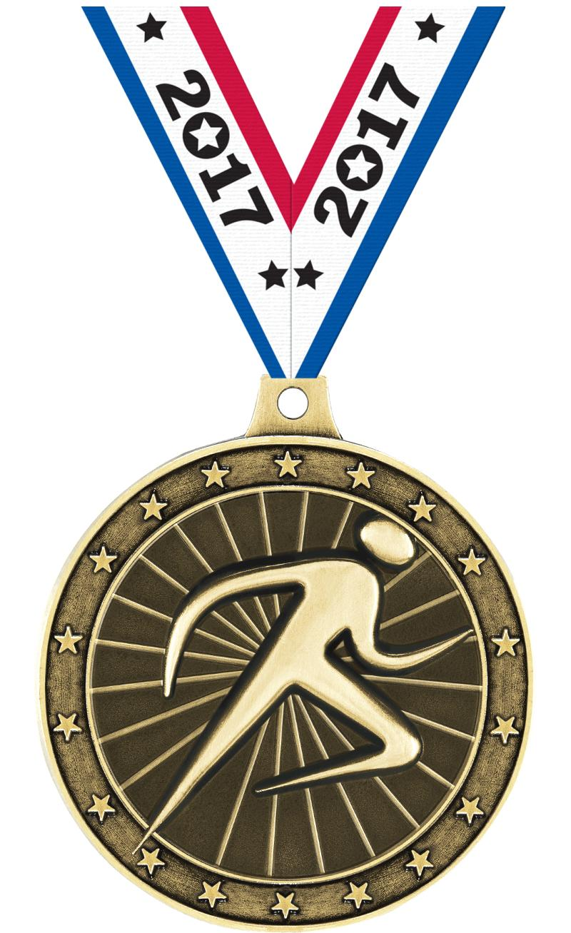"2"" Abstract Runner Medals"