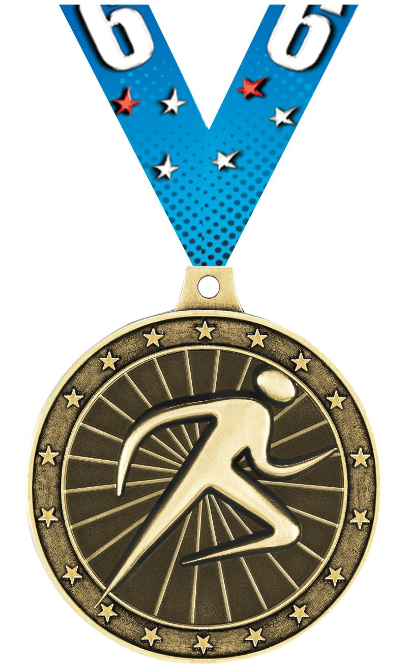"""2"""" Abstract Runner Medals"""