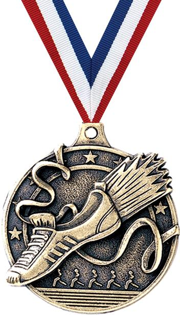 2 3d Diecast Medals 2 Winged Foot Medals
