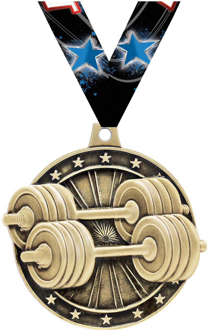 """2""""3D WEIGHTLIFTING GOLD MEDAL"""