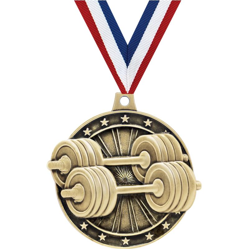"2""3D WEIGHTLIFTING GOLD MEDAL"