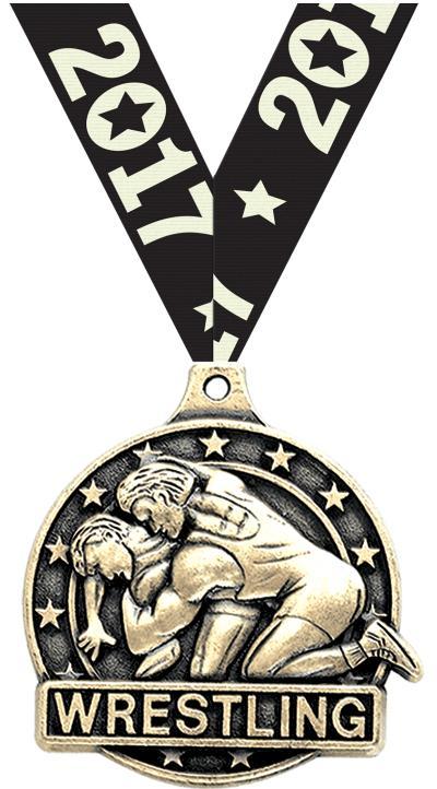 """2"""" Wrestling Medals"""