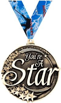 """2"""" You Are A Star Medal"""
