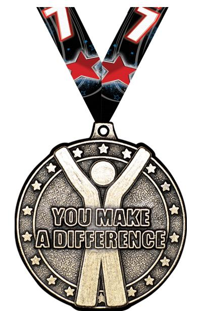"2"" You Make A Difference Medal"