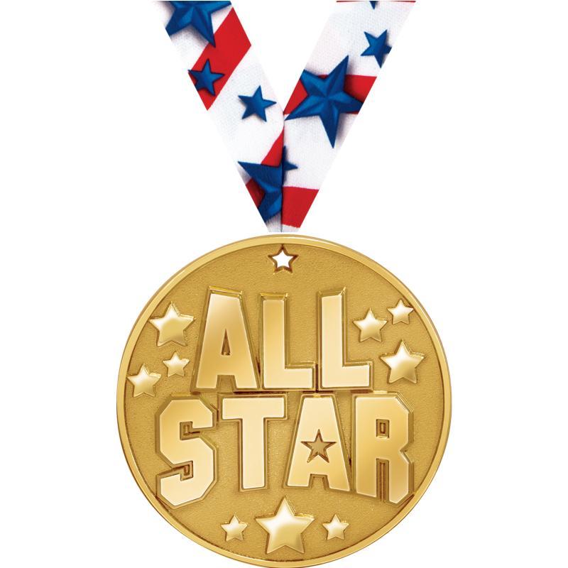 "2"" BLAZE ALL STAR MEDAL GOLD"