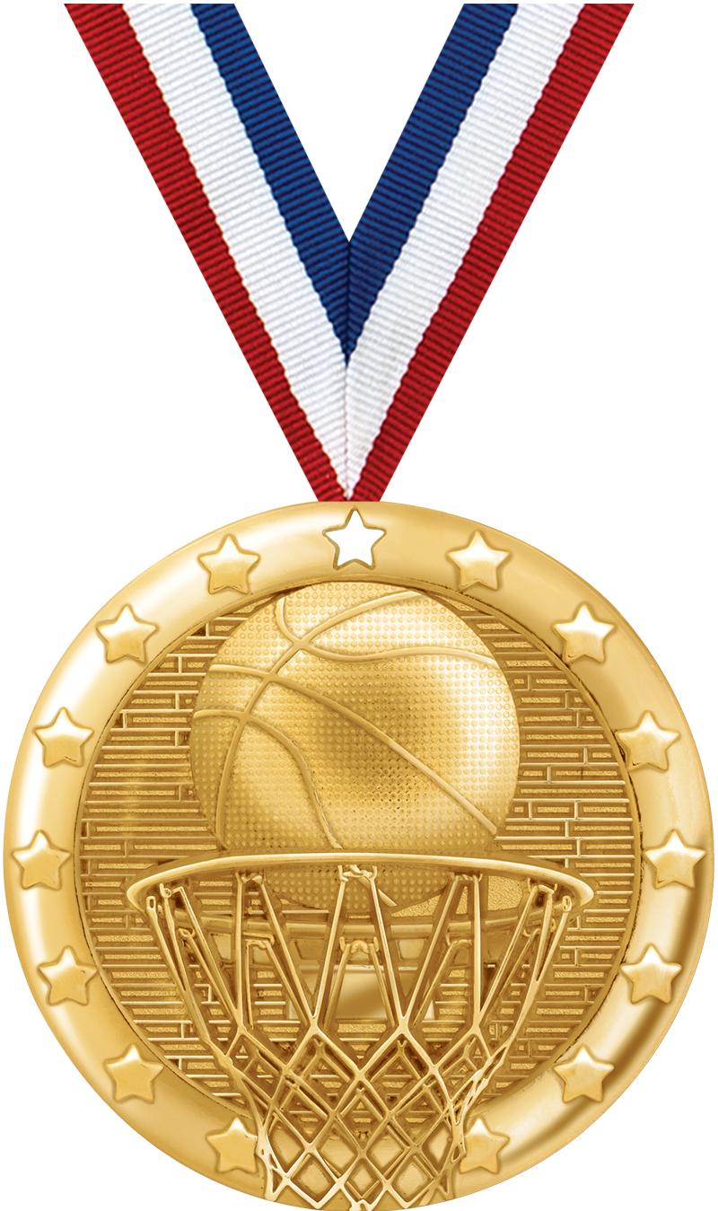 "2"" BLAZE BASKETBALL MDL GLD"