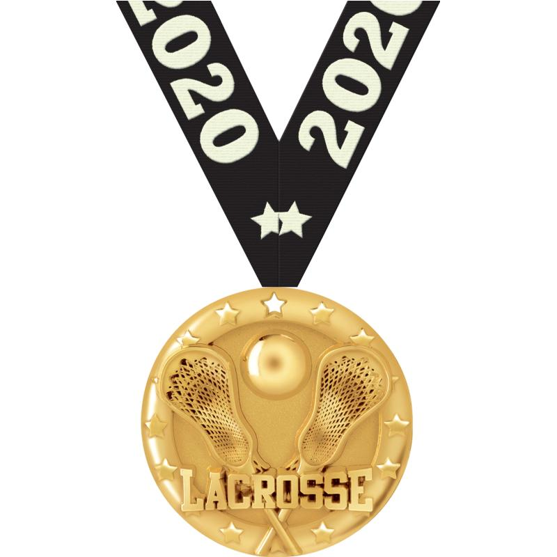"2""BLAZE LACROSSE MEDAL GOLD"