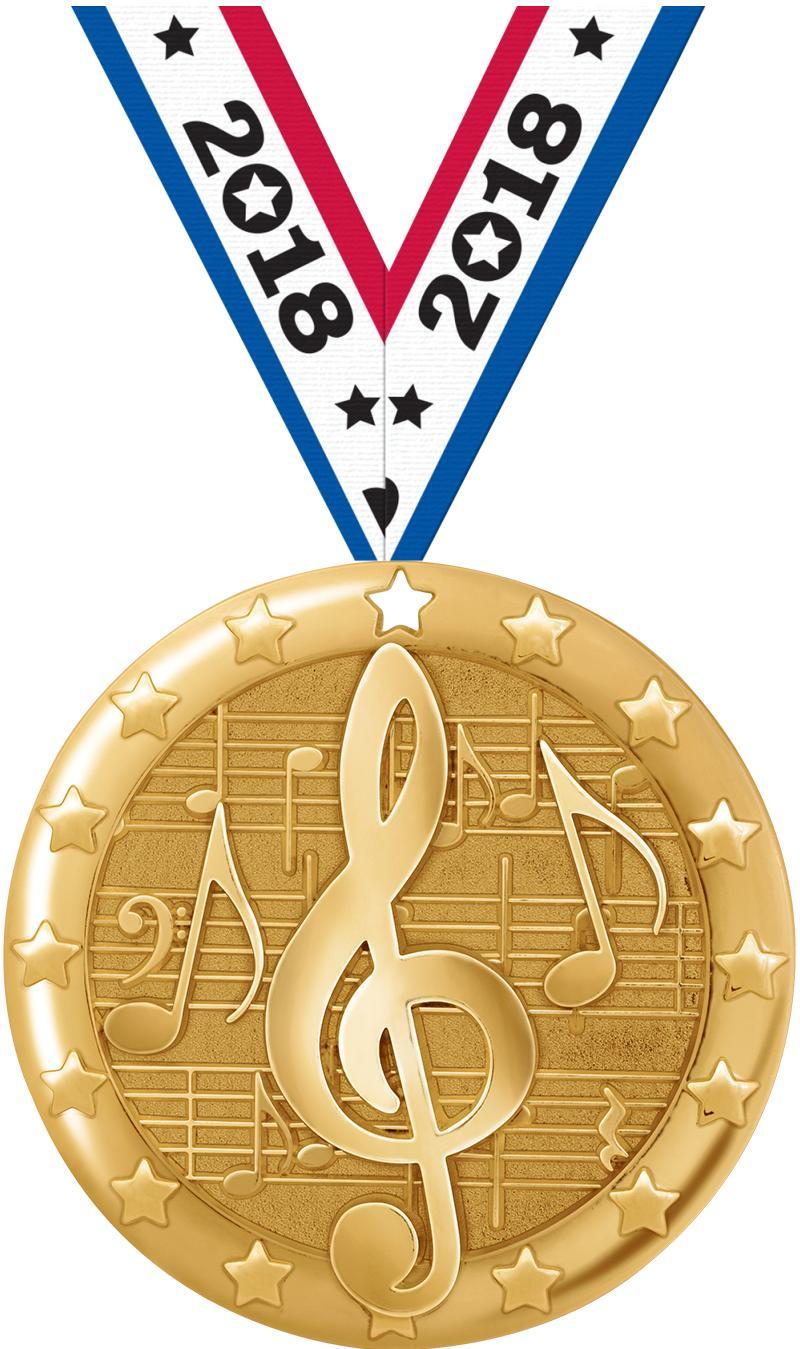 "2"" Music Blaze Medals"