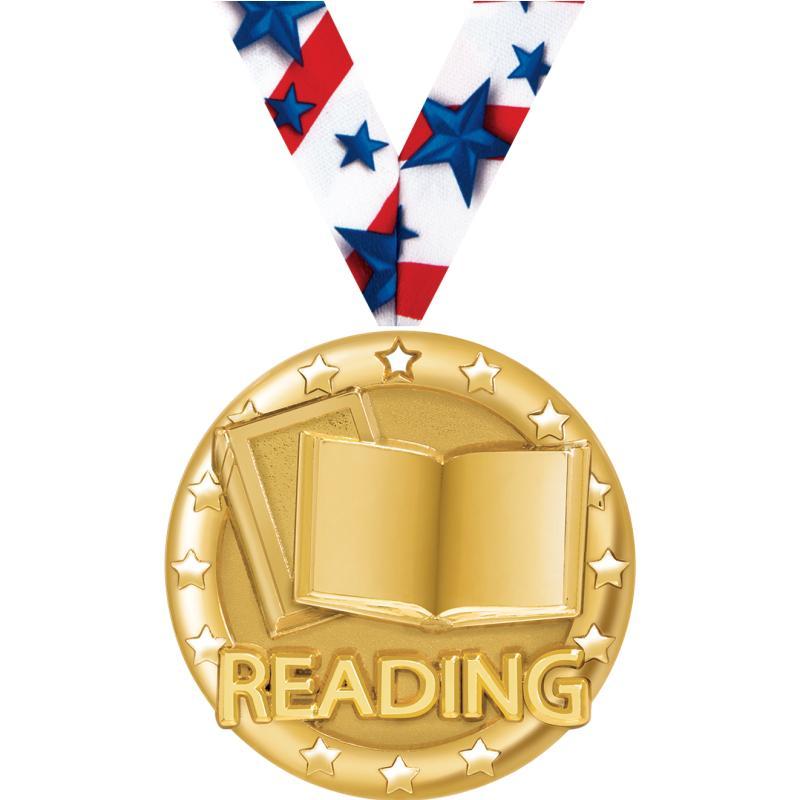 "2"" BLAZE READING MEDAL GOLD"