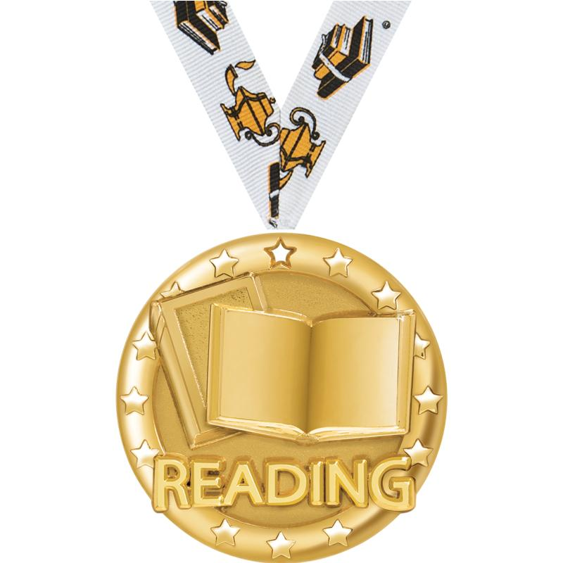 "2"" BLAZE READING MEDAL GOLD"