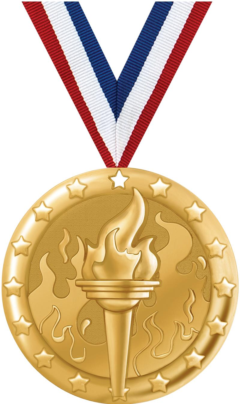 "2"" BLAZE TORCH MEDAL GOLD"