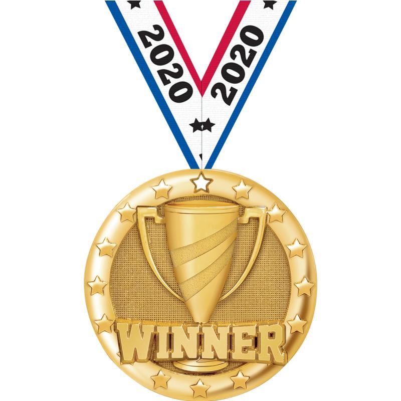 """2"""" BLAZE WINNER MEDAL GOLD"""