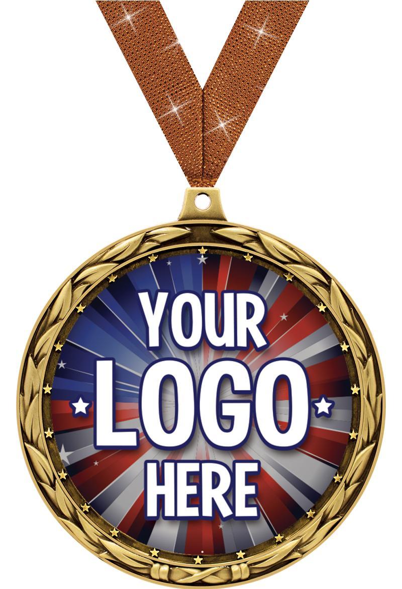 """4 1/2"""" Jumbo Insert Medal"""