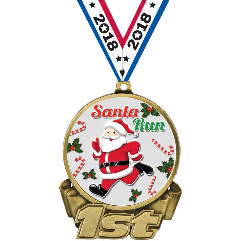 Santa claus medals dogtags crown awards