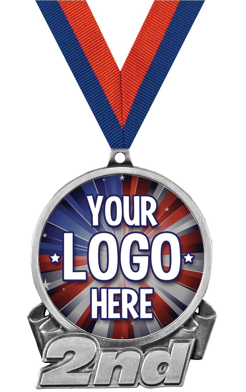 """3"""" 2nd Place Medal"""