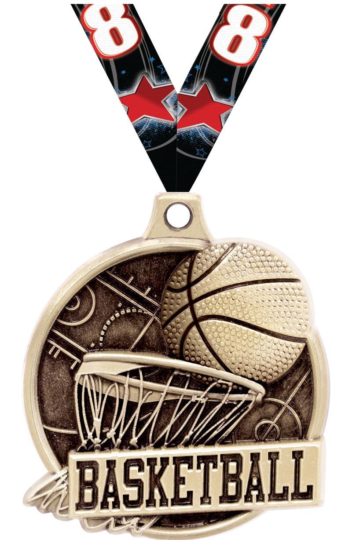 """1.5""""3D BASKETBALL GOLD"""