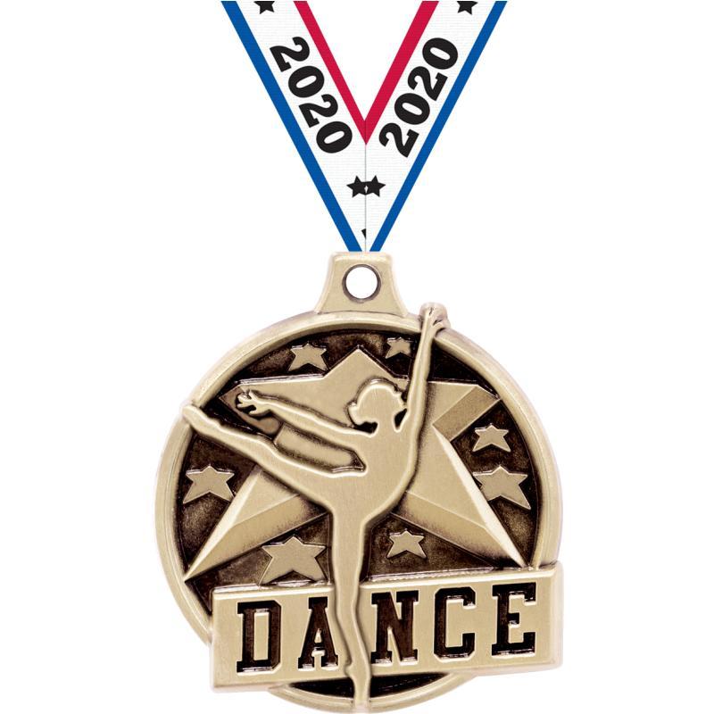 """1.5""""3D CHALLENGER DANCE GOLD"""