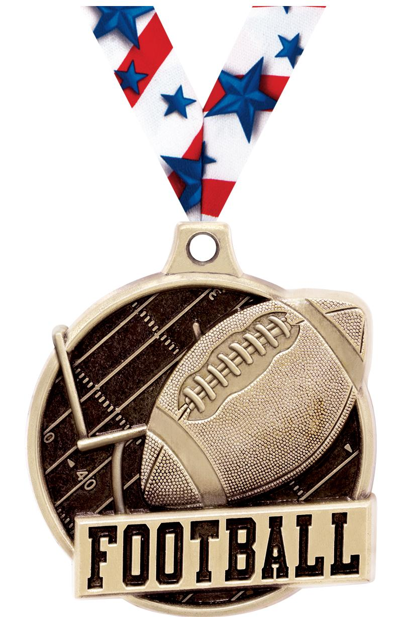 "1.5""3D CHALLENGER FOOTBALL GLD"
