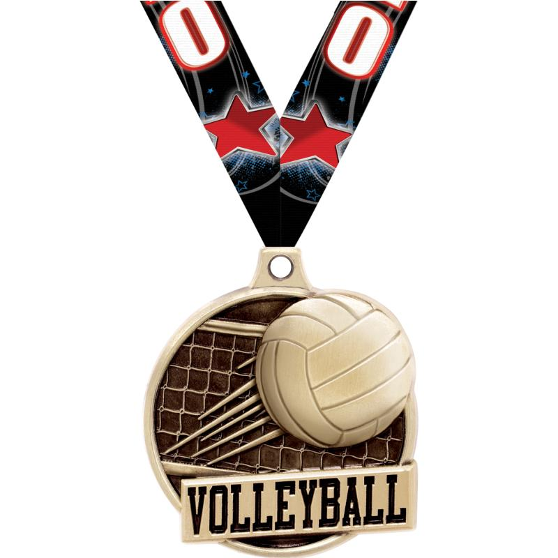 "1.5""3D CHALLNGR VOLLEYBALL GD"