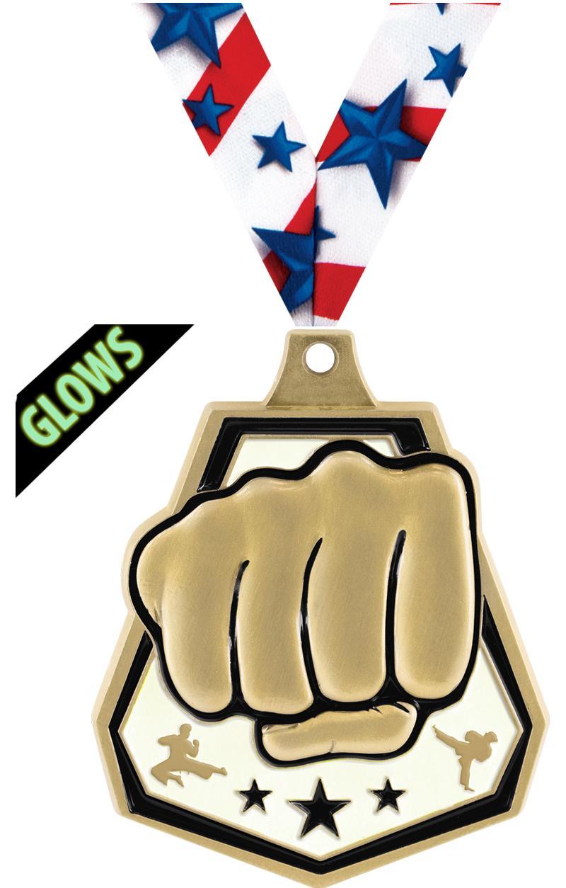 """2""""GLOW DRK MARTIAL ARTS CAP GD"""