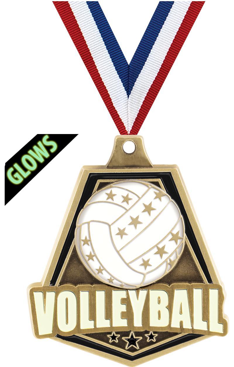 """2""""GLOW DARK VOLLEYBALL CAPT GD"""