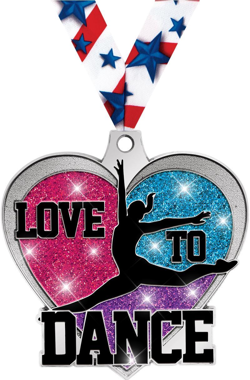 "2""LOVE TO DANCE GLITTER MDL SV"