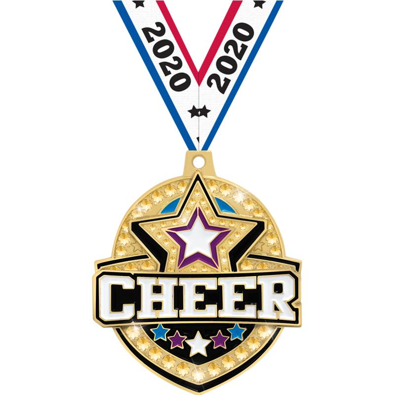 "2.25"" ROYAL CHEER MEDAL GD"