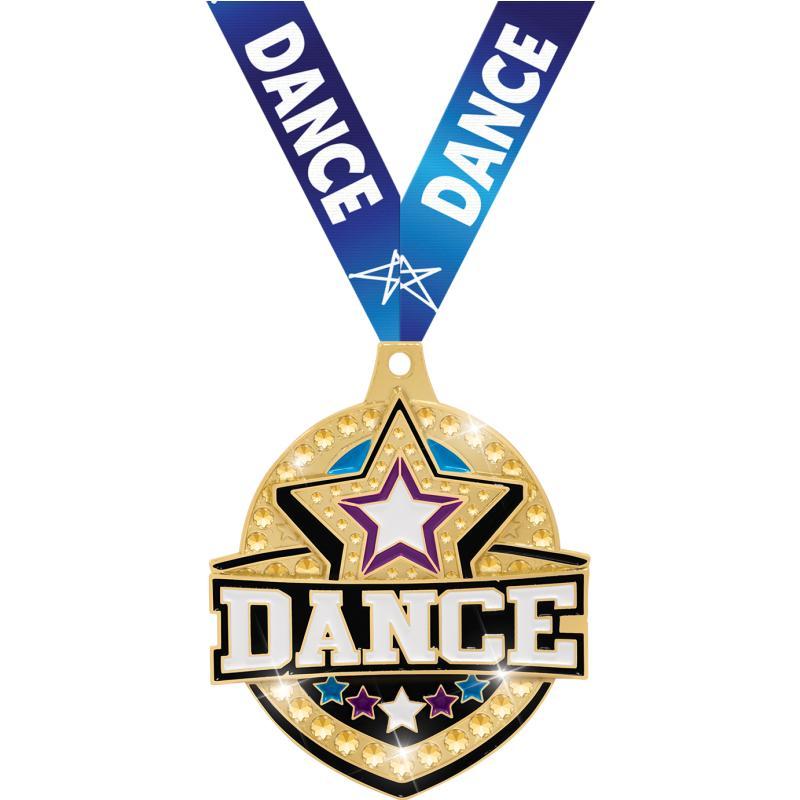 "2.25"" ROYAL DANCE MEDAL GOLD"