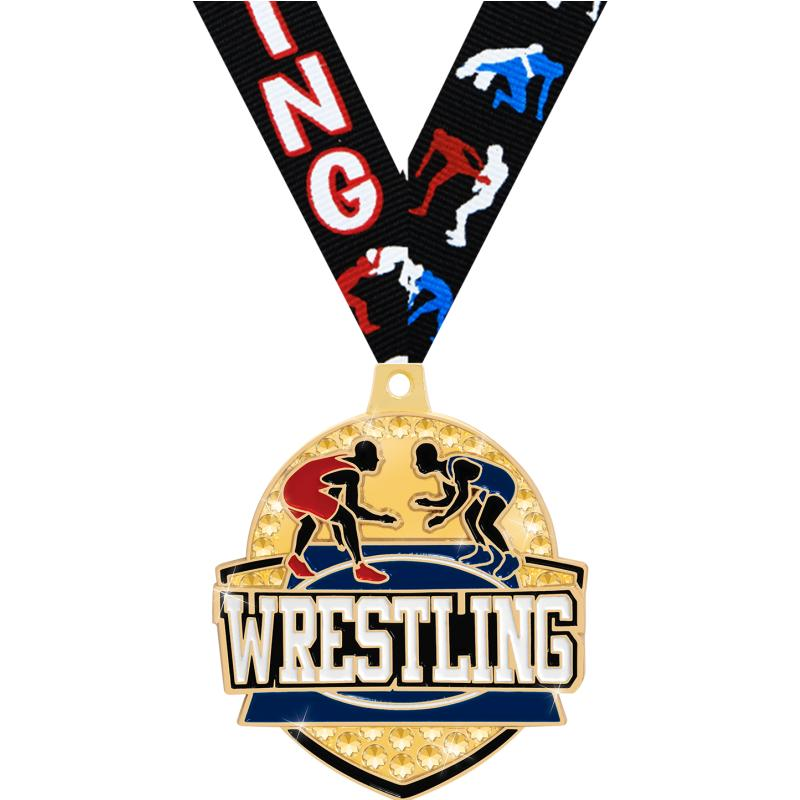 "2.25"" ROYAL WRESTLING MEDAL GD"