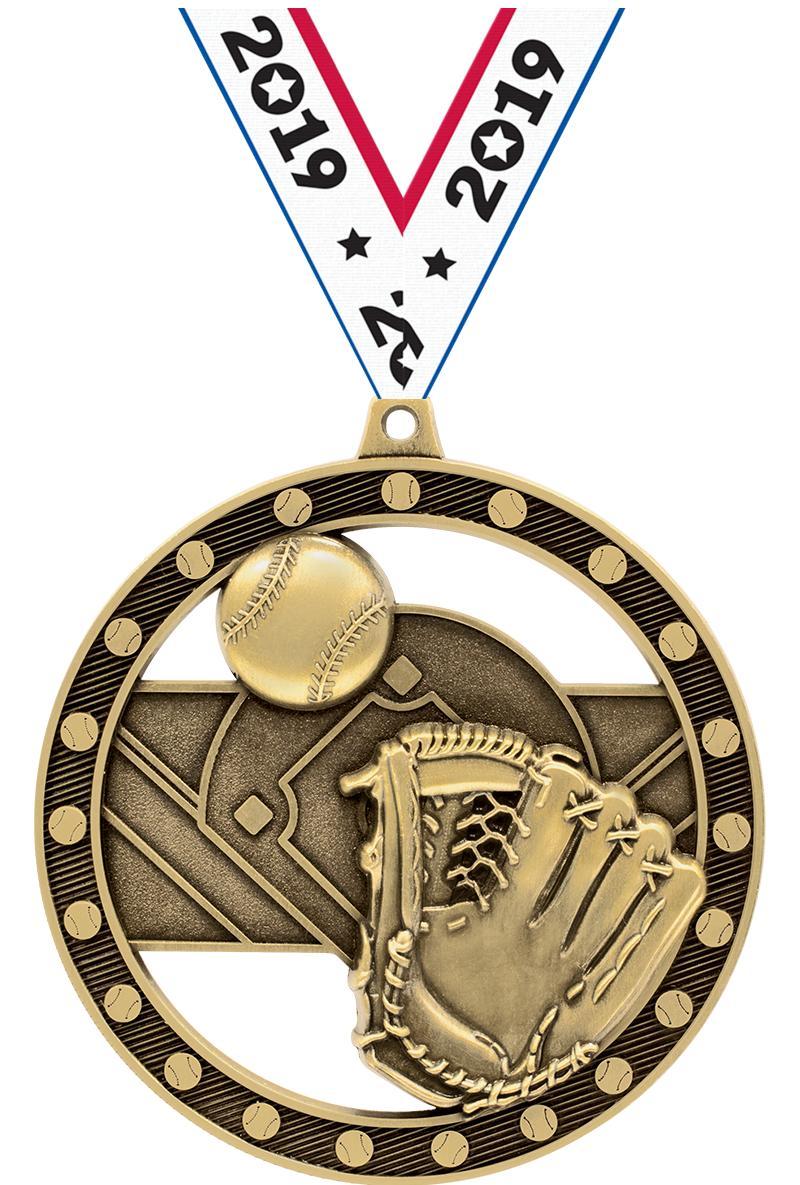 """3""""MASSIVE RIMZ BASEBALL GOLD"""