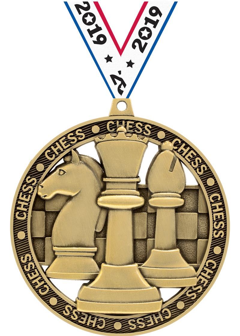 """3""""MASSIVE RIMZ CHESS GOLD"""